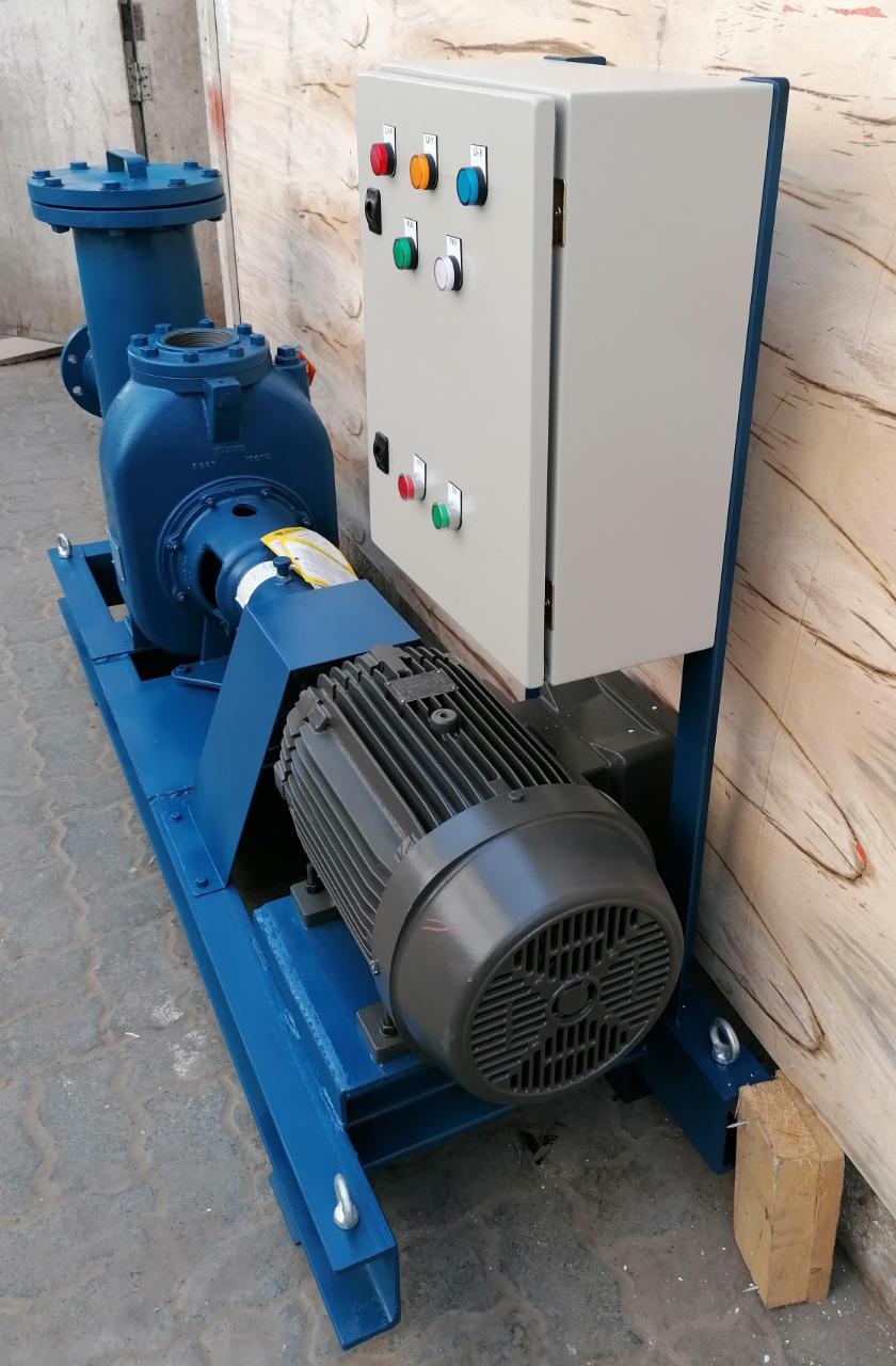 Gorman Rupp Pump Skid with Panel Box